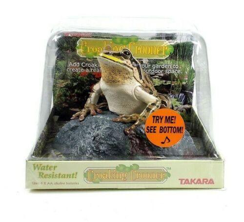 Takara Croaking Crooner - Motion Sensor Activated Croaking Animated Frog