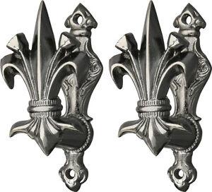 FLEUR-DE-LIS-SWORD-GUN-or-DRAPERY-HANGER-SET-CN203308