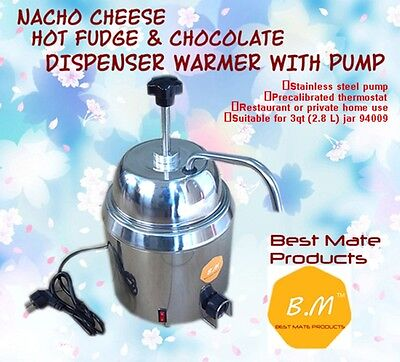 B.m Gm-280hot Fudge Nacho Cheese Dispenser Warmer With Pump Stainless Steel Can