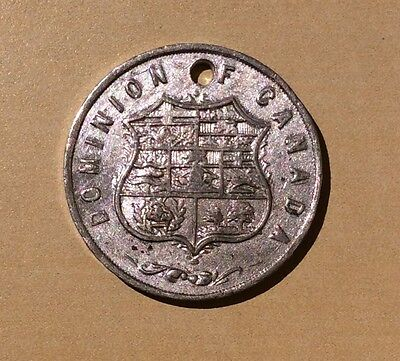 Dominion Canada Medal Coat of Arms - Small and holed