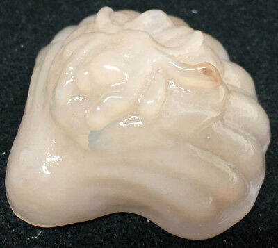 Pink Milk glass Sea oyster Shell fish spider salt dip Crown Tuscan pearl insect