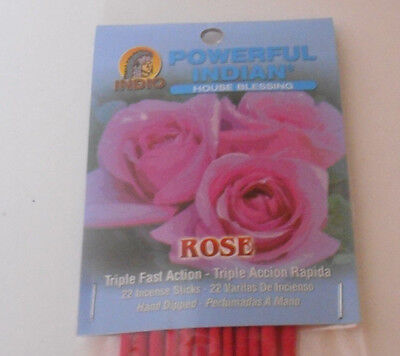 Powerful Indian 22 pack stick incense ROSE (Love, friendship)