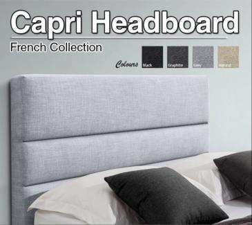Fabric Upholstered Kingsize bed headboard - Brand new / unused