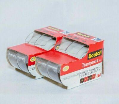 Scotch Transparent Tape 34 X 250 4 Rolls 2157ss