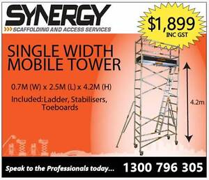 Synergy Scaffolding Aluminium – (Dimensions: 0.7m x 2.5m x 4.4m) Revesby Bankstown Area Preview