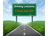 Driving Lessons - 5 Hours only £55* on both manual and automatic cars. Package deals from £15 an hr