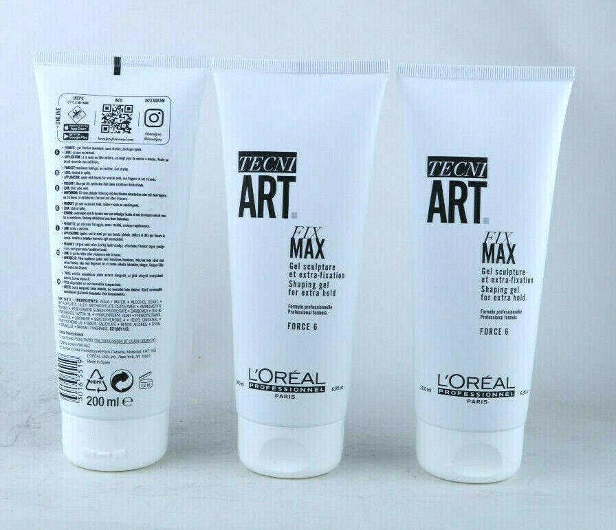 (EUR 49,97 / L) Loreal Tecni.Art FIX Max 3x200ml Haargel