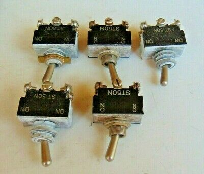 Lot Of 5 Nos Vintage Jbt Kulka Toggle Switchmicro Switch St50n