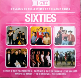 """6 CD 'SIXTIES"""" Box Set by 6 Classic Sixties Groups - NEW"""