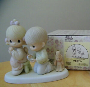 """Precious Moments figurine """"With This Ring I..."""" In original box Kitchener / Waterloo Kitchener Area image 1"""