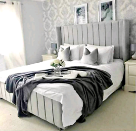 💚💤 NEW STUNNING WINGBACK PLUSH BED FRAMES SALE, ANY COLOUR ALL SIZES