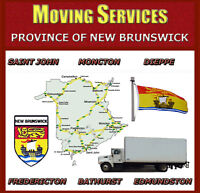 MOVING SERVICES ANYWHERE IN NEW BRUNSWICK - REASONABLE RATES