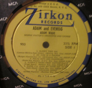 ADAM WADE Vinyl Album 1962 *Authentic, Original  Soul* ZIRKON Kitchener / Waterloo Kitchener Area image 2