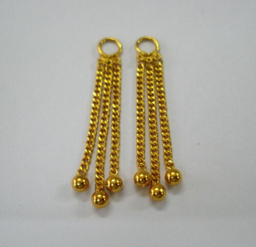 vintage 20kt gold chain for ear stud handmade jewelry india