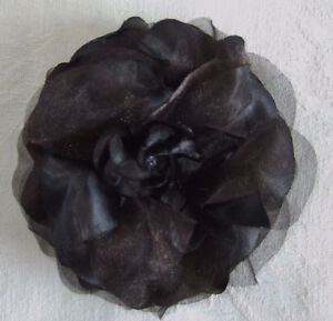 BLACK ROSETTE CORSAGE WITH WRIST OR GOWN OPTION