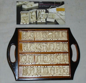 RARE Dutch Renaissance Domino Game GR001F with wooden tray Sarnia Sarnia Area image 3