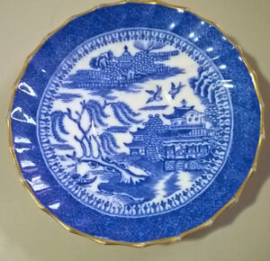 Antique Copelands China  Blue and White Small Willow Plate