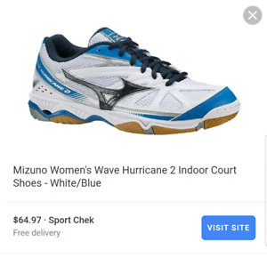 Women's Mizuno hurricane wave 2, US size 6.5