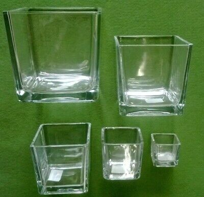 Vaso quadrato in vetro, più misure - vaso decorativo