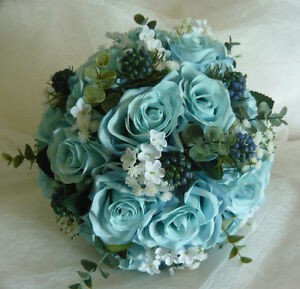 "Light Blue Is Back For 2017 ""Wedding Bouquet Flowers Set. London Ontario image 2"