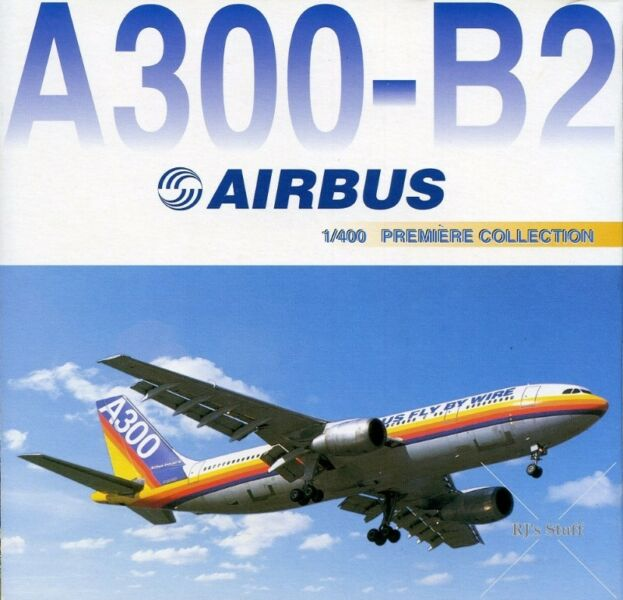 RARE Dragon Wings #55432 AIRBUS A300-B2 Fly By Wire 1:400 Scale Model Aircraft with 1980's Colours