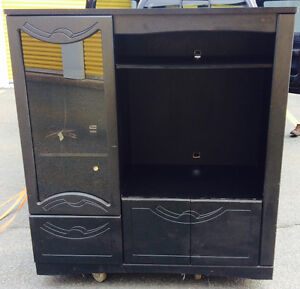 Cabinet or Entertainment Center with glass door & interior light