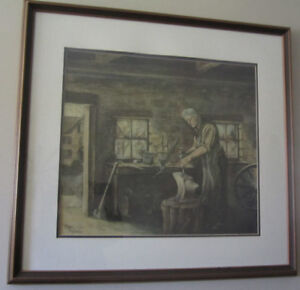 The Blacksmith by Peter Robson - Signed and numbered.