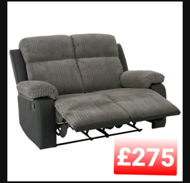 Bradley 2 seater recliner sofa. Grey
