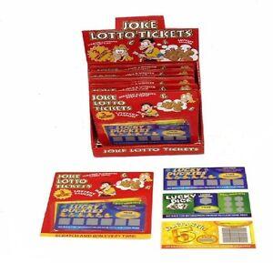 3 Fake Winning Scratch Cards Lotto Lottery Joke Trick Prank Gag Uk