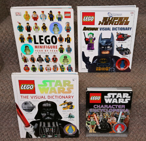 4 Lego Mini Figure books and guides Star Wars  Clone Wars MORE