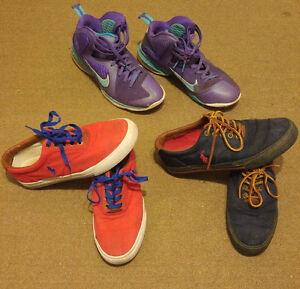 Polo Ralph Lauren and Lebron 9s shoe lot size 9, 9.5