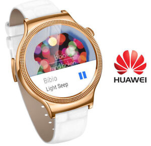 Huawei 44mm ANDROID Smart watch WHITE LEATHER - ROSE GOLD