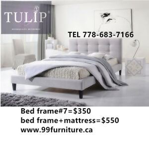 █♣█TULIP BRAND NEW~LIGHT GREY LINEN FASHION BED~DONOT MISS!