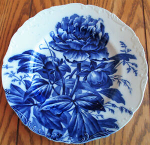 ANTIQUE 1891 FLOW BLUE PLATE Cauldon Place Brown Westhead Moore