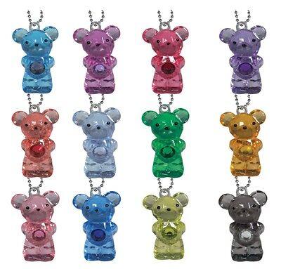 100 Birthstone Bear Keychains in original factory sealed bag