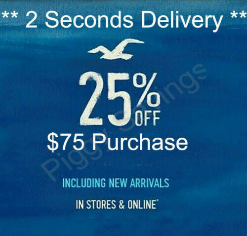 ✔️ 25% OFF $75 or more Hollister COUPON CODE / Work Sale Clearence *2 sec Delivy