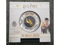 5 Dollar Harry Potter The Golden Snitch Coin Samoa 2 oz Silver + Gold 2020