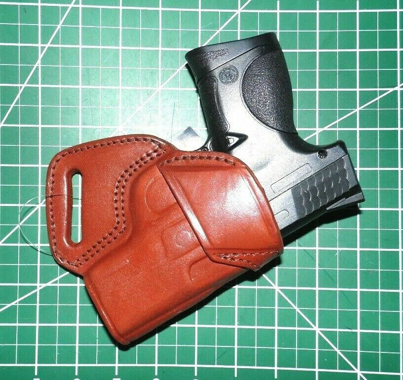 Mbh-362 Tagua Brown Leather OWB Small of Back Right Hand Holster Fits Ruger  Sr9c