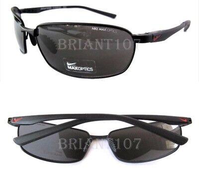 New Nike Avid-Wire EV0569  001 Black/Gray w/Max Optics Golf Unisex Sunglasses  (Nike Max Optics Sunglasses)