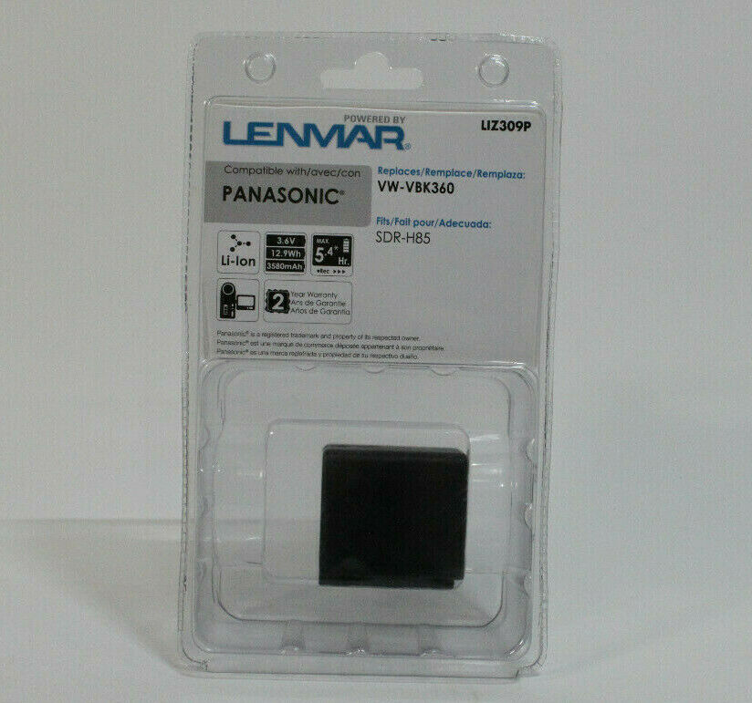 LENMAR LIZ309P LENMAR LIZ309P Extended Battery for Panasonic