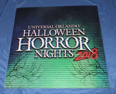 Studios Universal Halloween (HALLOWEEN HORROR NIGHTS Universal Studios Theme Park Prop Sign 2018)