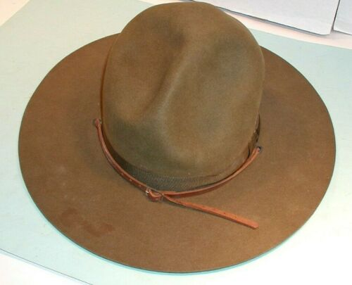 """Vintage """" John Stetson """" Supply Department Boy Scouts  Hat with Carrying Case"""