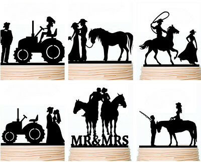 Country Wedding Cake Toppers Rustic Cowboy Western Party Decorations - Cowboy Cake