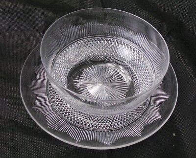HAWKES CRYSTAL 5 BOWLS LINERS AND 10 PLATES  20 PIECES TOTAL