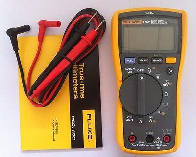Fluke 117c 117 Dmm Digital Multimeter Electrical Tester Alert Detector W Tl75