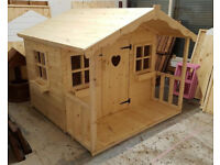 6X6 WOODEN CHILDRENS PLAYHOUSE/WENDY HOUSE TOP QUALITY HEAVY DUTY INC WINDOWBOXS