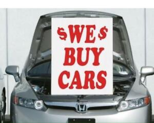 Wanted: WE BUY CARS! Junk -Scrap - Used - Damage -not Running