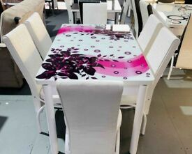 TURKISH DINNING SET WITH EXTENDABLE TABLE WITH 6 X CHAIRS WITH 1 YEAR WARRANTY
