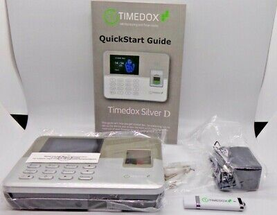 New Open Box Timedox Silver D Biometric Fingerprint Time Clock Scanner