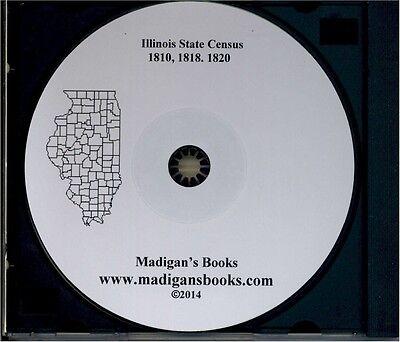 Illinois State Census, 1810 1818 1820 IL history genealogy